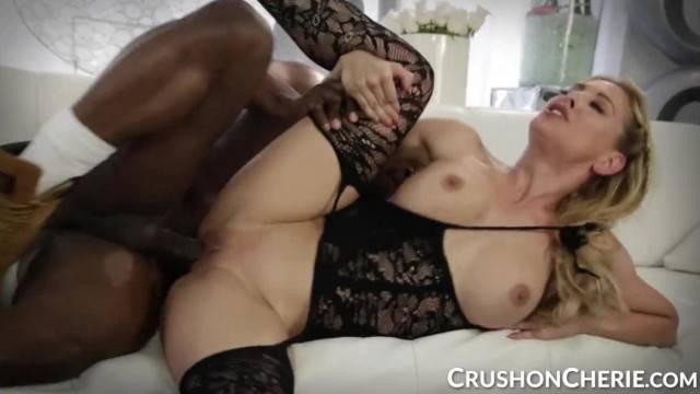 CrushGirls Cherie Deville Sucks and Fucks a Big Black Cock