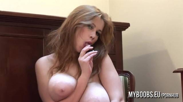 Huge Natural Tits Terry Nova Masturbates with Vibrator