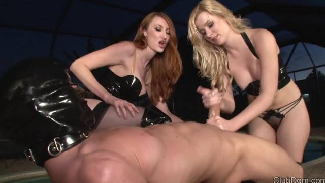 Femdom Double Domme Cock Domination for Lucky Slave