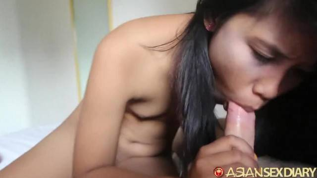 Asian Sex Diary Young Filipina gets Stretched by Big White Cock