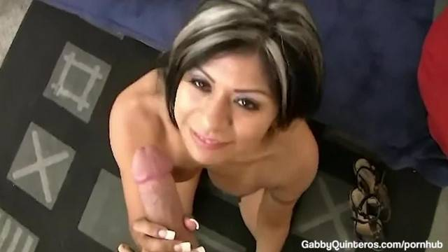 MexiMilf Gabby Quinteros Mouth Fucks and Pussy Pounds A Cock