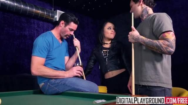 Pool Shark Holly Hendrix Takes to Sticks