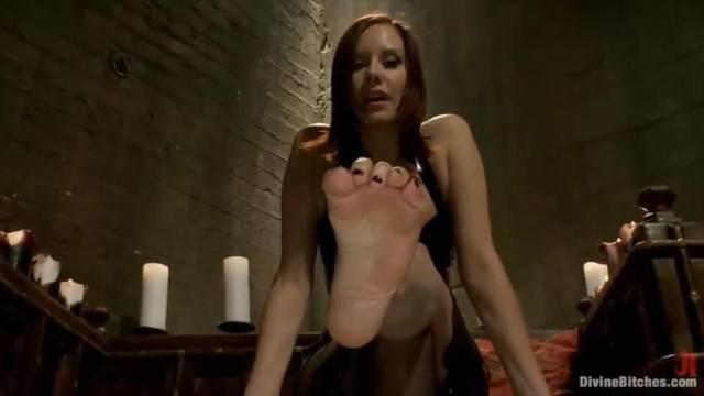 Femdom POV Foot Domination with Sexy Redhead Mistress