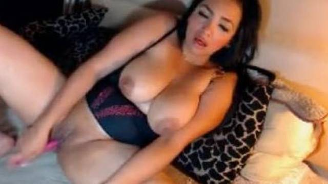 Big busty milf masturbating and has shaking orgam