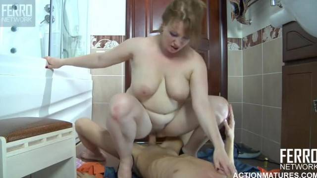 Fat Mom Fucked by her Horny Step son