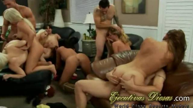 Hot babes go wild in amateur student orgy