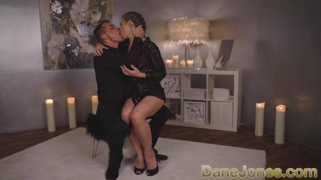 Elegant and romantic sex by the fireplace turns into hardcore