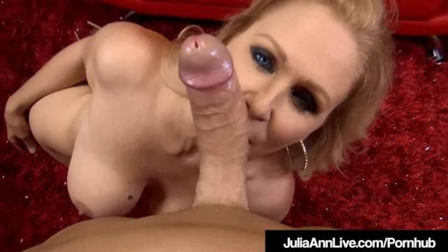 Big Boobed Blonde MILF Julia Ann Strokes and Blows your Dick