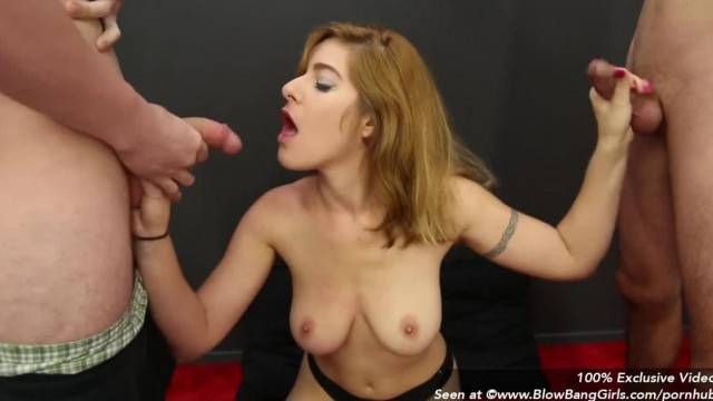 Big Natural Tit Alessa Blowbangs Multiple Cocks