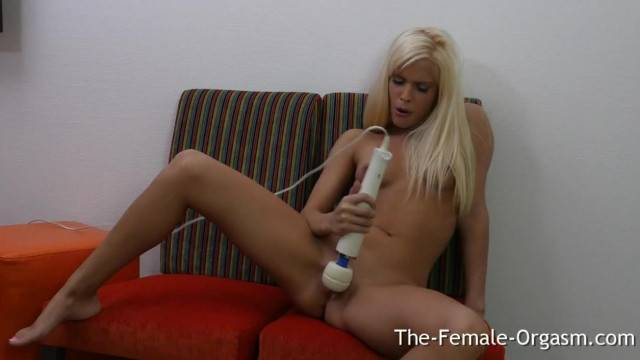 Sweet Blonde Teen Solo Masturbation to Real Orgasm with her Hitachi