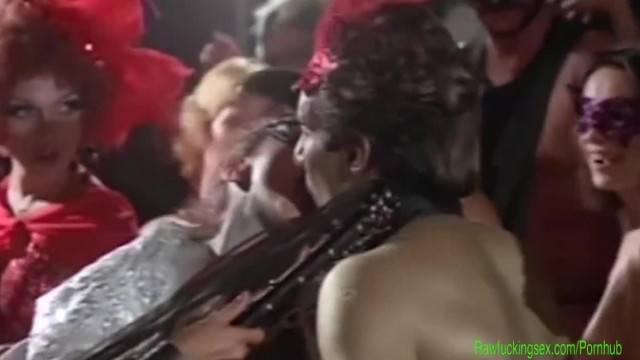 Kinky Vintage Movie Orgy Party Scene