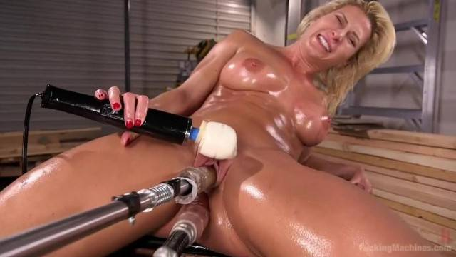 Ariel X gets double penetration from Robo Cock