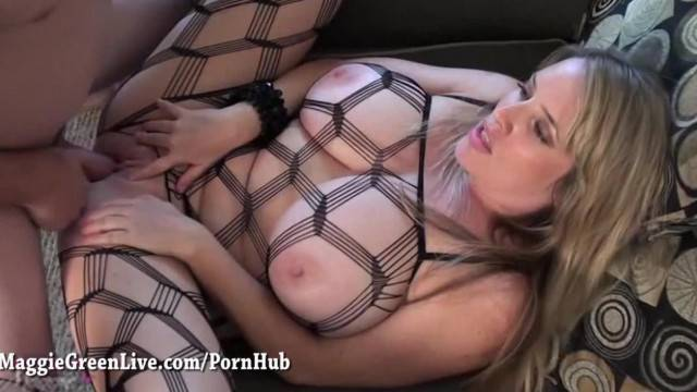 Big Tit Maggie Green gets Fucked in Fishnet