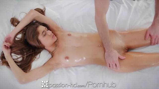 PASSION HD Lean Brunette Rebel Lynn Fucked after Massage
