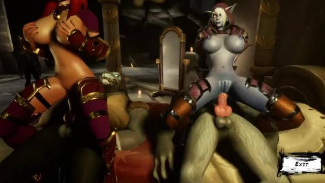 3D intense fuck game with monster cocks and busty babes