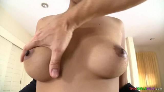 Nice Big Thai Girl Tits Bareback Creampie
