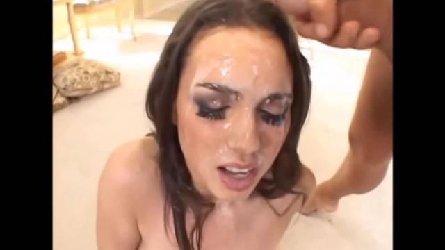 Slut fucked hardcore double penetration triple anal sex and facial cumshot