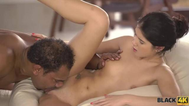 BLACK4K BBC makes Lonely Rich Chick the Happiest Girl in the World