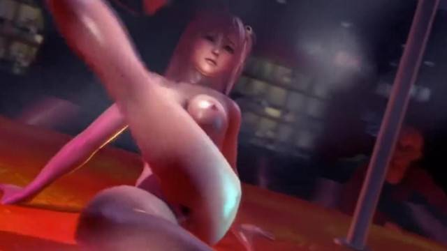 Anime striptease and deep fuck with hot curvy babes