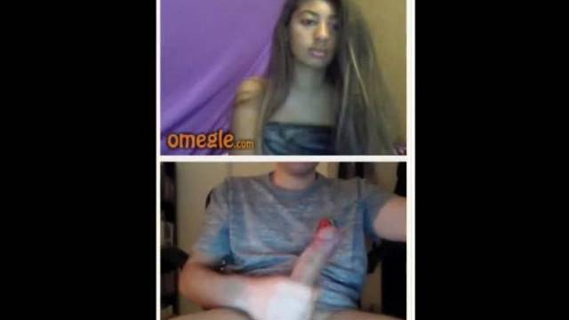 Omegle Girl Flash Tits for my Dick