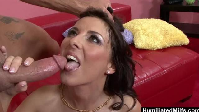 HumiliatedMilfs Busty Brunette MILF Returns the Favor