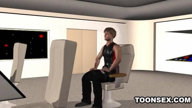 3D Cartoon Emo Babe Sucks Cock and gets Fucked