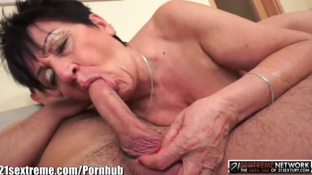 Cougar granny fucked and creampied by young stud