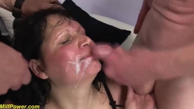 Mature BBW wife in her first Double Penetration