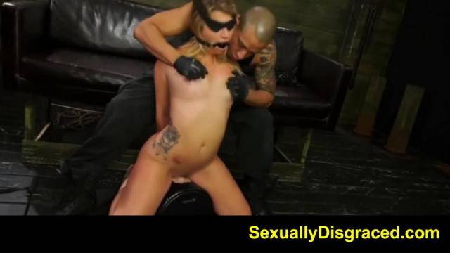 Cute submissive Jenna Ashley gets her pussy destroyed in BDSM Bound