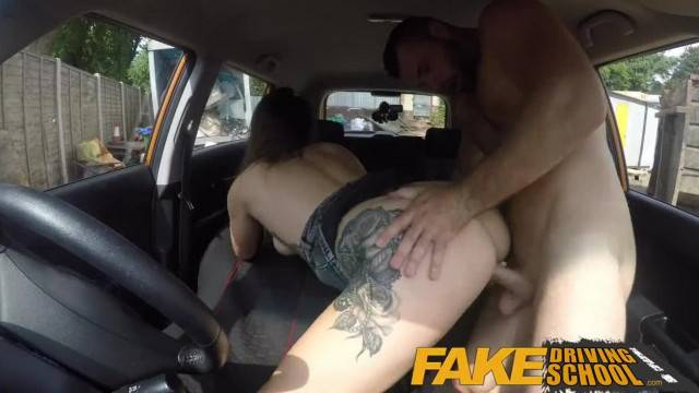 Fake Driving School Ava Austen gets Cum pensation from Max Deed s Cock