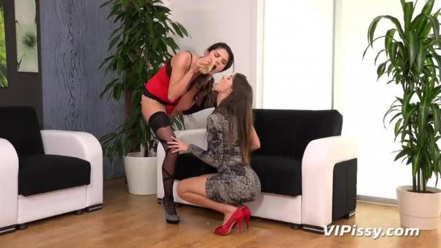 Lesbian Piss Drinking Naughty European Babes Share their Golden Nectar