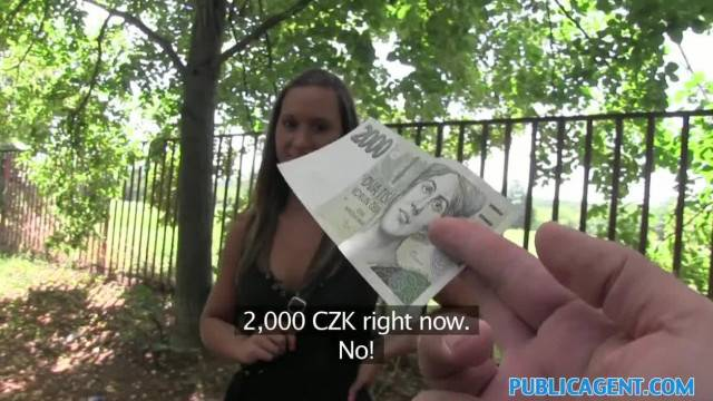 PublicAgent Teen Czech Fucks outside for Money