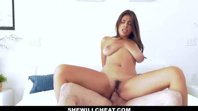 Hot Ella Knox gets cum load on her huge tits