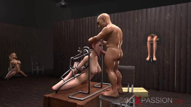 Young Captives Fucked by Pervert Boss and his Bodyguards in the Basament