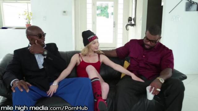 Angel Smalls Double Penetrated by Huge Black Cocks