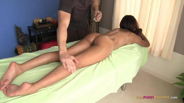Thai Pussy Spread Open on Massage Table