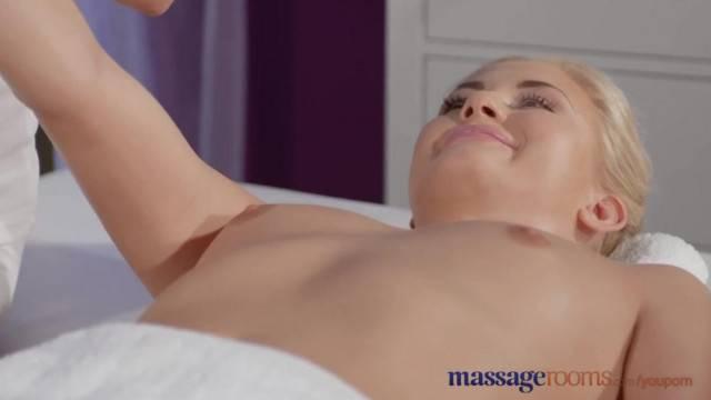 Massage Rooms Big Tits Masseuse gives Young Teen Lesbian Intense Orgasms