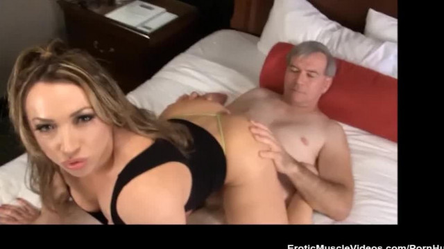 BrandiMae Dominates and Pegs Dirty old Man
