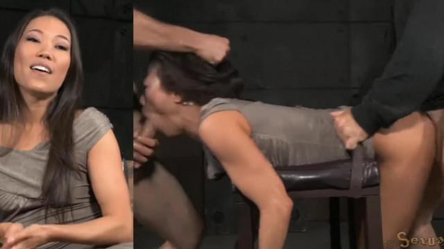 Submissive Kalina Ryu Throatfuck and Spitroasted