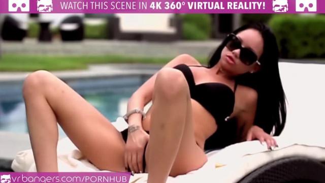 VR Bangers Slutty LATINA Raven Bay Masturbates and CUMMING LOUDLY