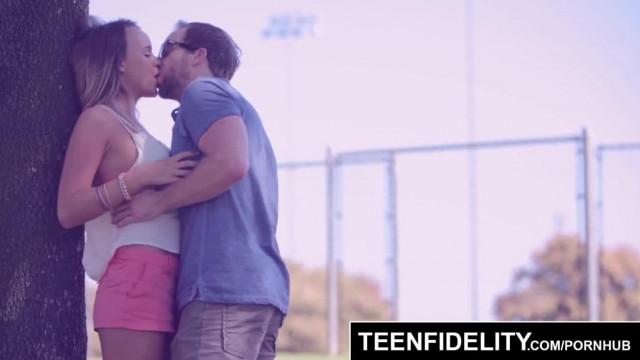 TEENFIDELITY Perky Tittied Teen gets Creampied