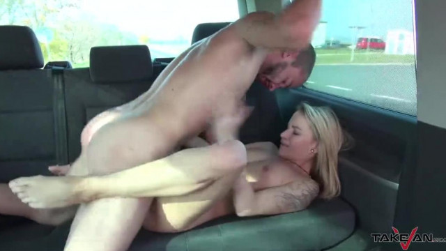 Takevan Blonde Chick Caught in Shopping Mall and Convinced to Fuck