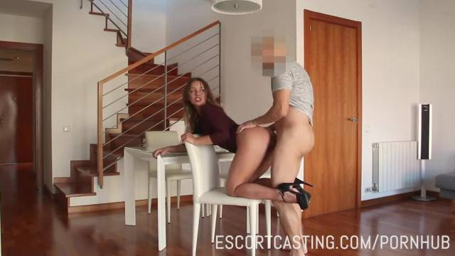 Stunning babe Taylor Sands fucked during escort casting
