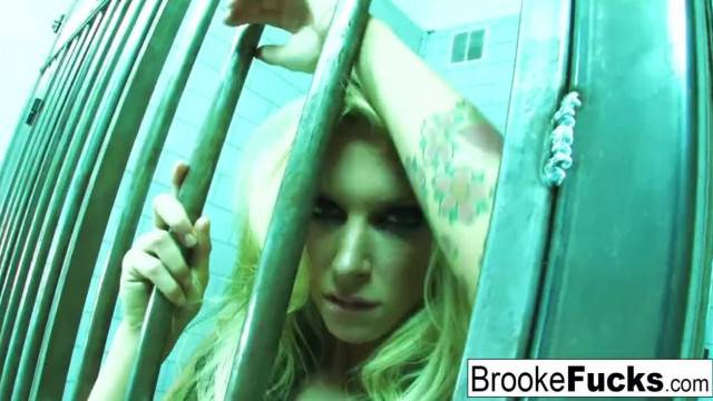 Watch Brooke get down and Dirty in Jail