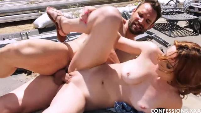 Petite Young Babe Scarlet Johnson Fucks the Ranch Hand in Public