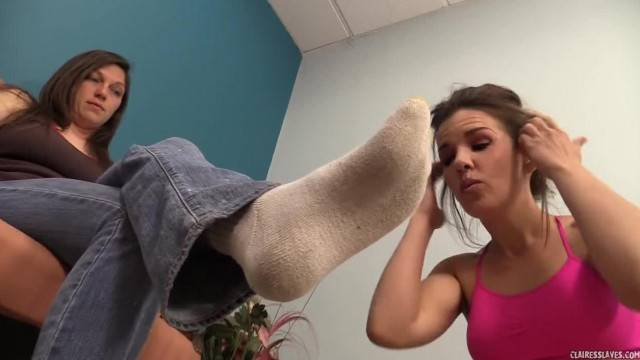 Claire Turns Brandi on W her Stinky Socks and Feet