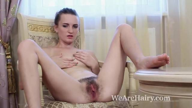 Ira Strips and Masturbates on her Favorite Chair