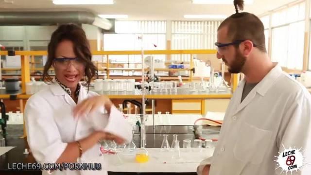 Busty Lab Nerd wants Cock in her Ebony Pussy