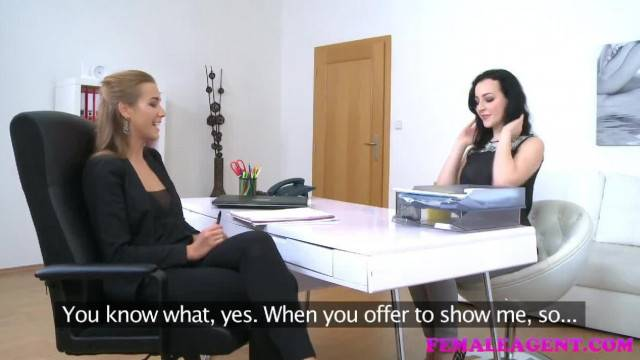 FemaleAgent Sexy Pierced Nipples Turns Agent on