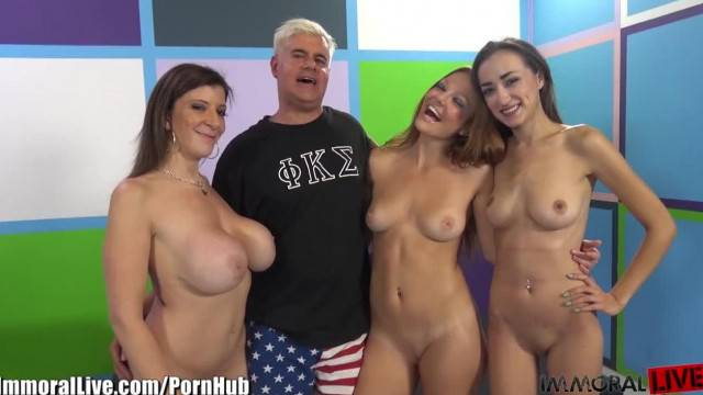 ImmoralLive MILF Teachin PARTY GIRLS to SQUIRT